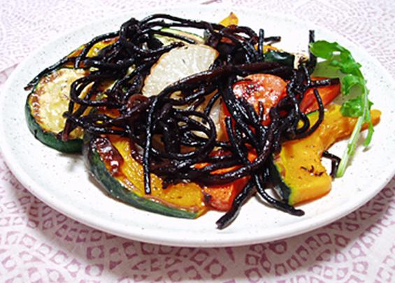 焼き野菜のヒジキマリネソース
