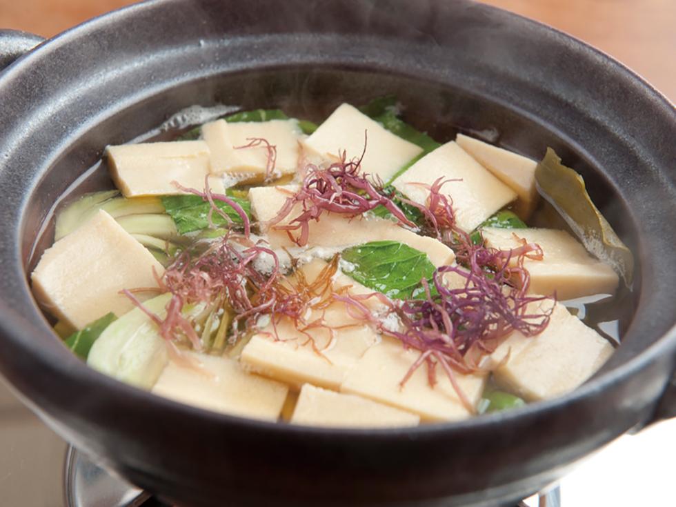チンゲンサイと高野豆腐の煮びたし
