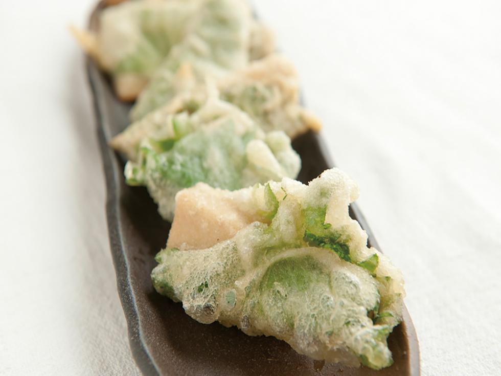 高野豆腐のシソ包み天ぷら