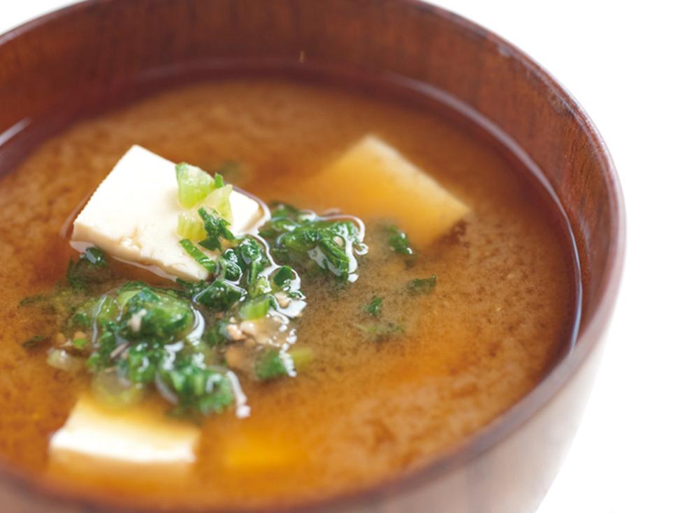 ダイコン葉の味噌汁