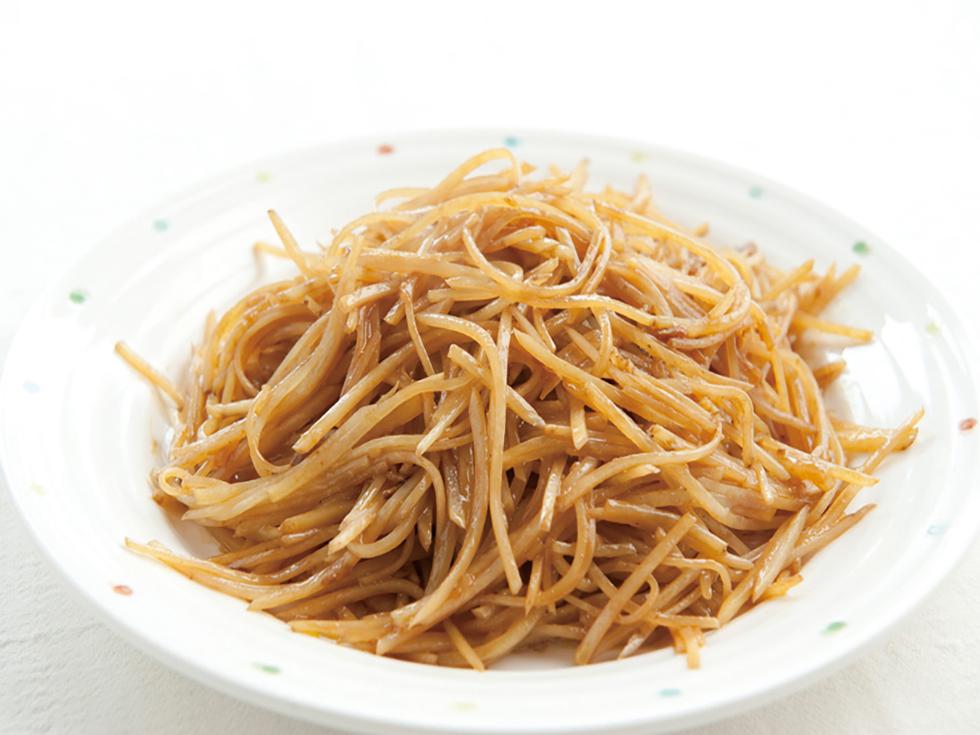 細切りジャガイモの味噌炒め