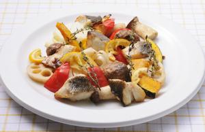 野菜と魚の 塩麹オーブン焼き